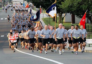 Army run  U S  Army photo by Kiyoshi Tokeshi