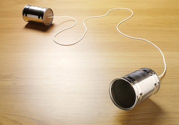 Two cans connected with string