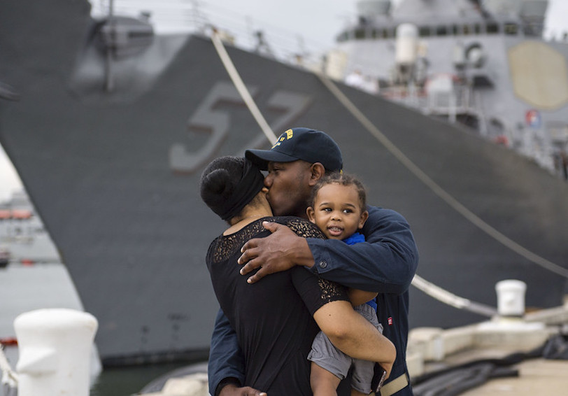 Military family. (U.S. Navy photo by Mass Communication Specialist 2nd Class Justin Wolpert/Released)