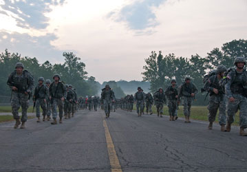 Road march  US Army photo
