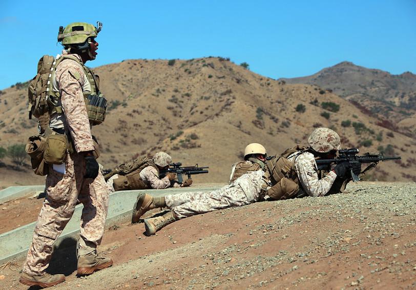 Marksmanship  DoD photo by Lance Cpl  John Baker  U S  Marine Corps Released