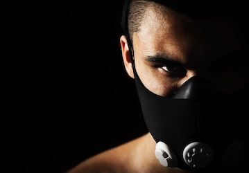 Person wearing a Pro Mask