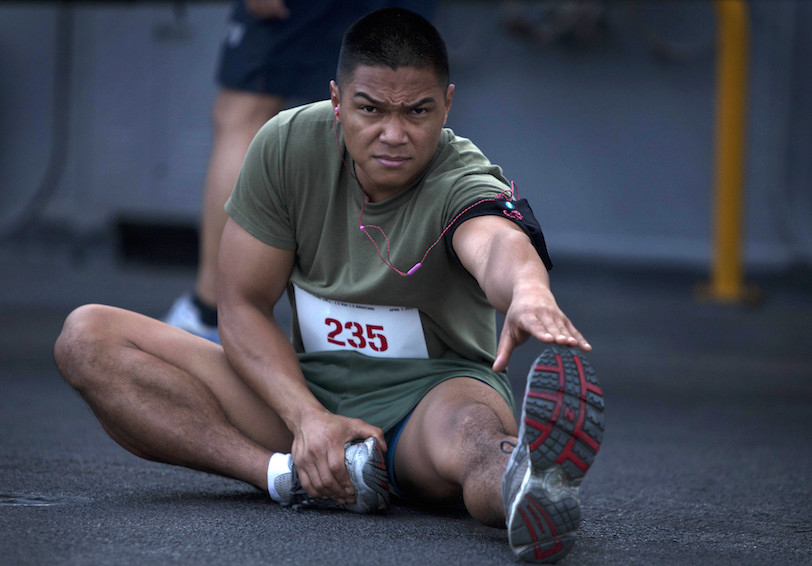 Stretching (U.S. Marine Corps photo by Sgt. Elyssa Quesada)