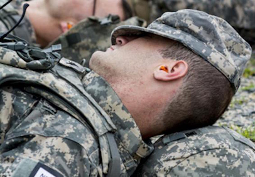 Sleeping soldier  Source  U S  Army photo by Sgt  1st Class Michel Sauret