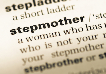 Close up of the word 'stepmother' on a dictionary page