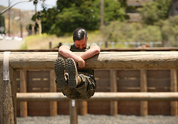 Marine obstacle course. (U.S. Marine Photo by Sgt Tayler P. Schwamb)