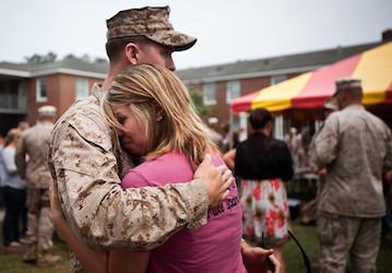 Deployment sendoff   U S  Marine Corps photo by Cpl  Bryan Nygaard