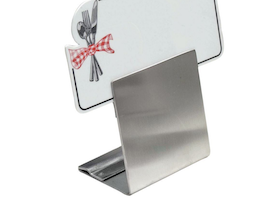 Expressly HUBERT Stainless Steel Dual Height Reversible Sign Holder