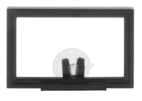 Black Plastic Sign Frame with Suction Cup Mounting Clips