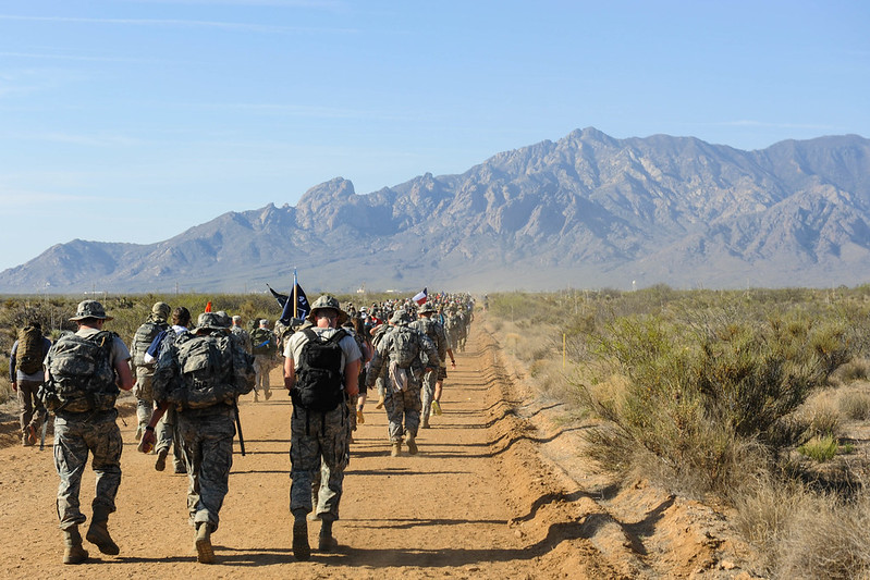Ruck march in hot, dry terrain