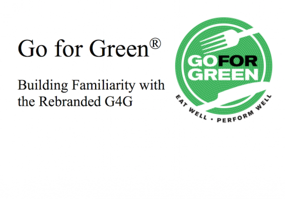 Go for Green. Building Familiarity with the Rebranded G4G . Go for Green logo.