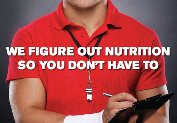 We figure out nutrition so you don't have to. Portion of poster.