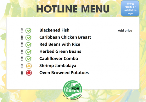 Thumbnail of first page of Hotline Menu document