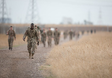 U.S. Soldier participates in a road march. (U.S. Army photo by Sgt. Jason A. Young)