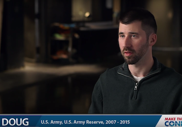 Still from video showing Doug, U.S. Army, U.S. Army Reserve, 2007-2015