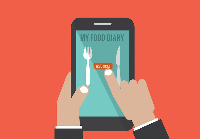 My Food Diary app on a smartphone