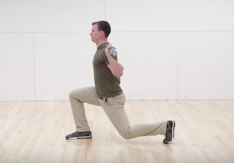 Man performing a back-rack lunge