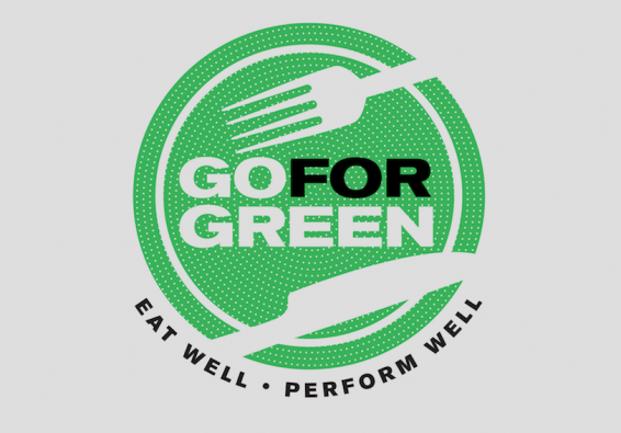 Go for Green logo. Eat well. Perform well.