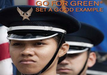Go for Green  Set a good example  Airmen in dress uniform