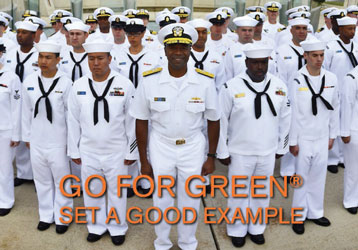 Go for Green  Set a good example  Group of sailors