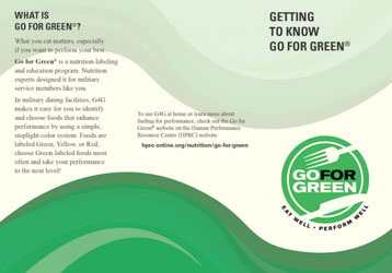 Thumbnail of first page of Getting to Know Go for Green document