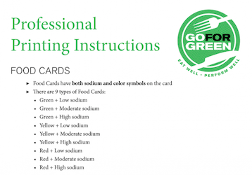Thumbnail of first page of Professional Printing Instructions document