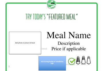 Thumbnail of downloadable Featured Meal template
