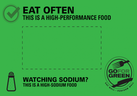 Thumbnail of Green: High Sodium Food Card