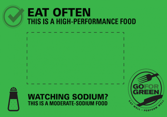 Thumbnail of Green: Moderate Sodium Food Card