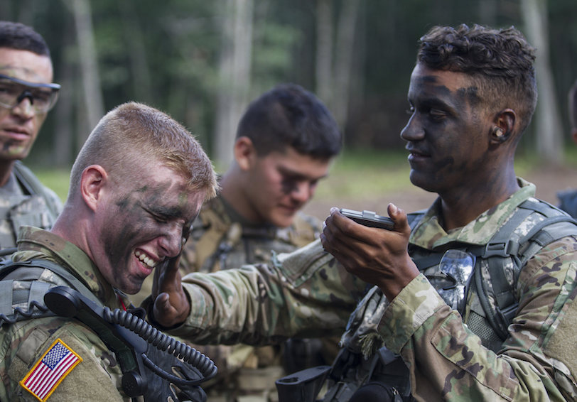 Soldiers and cadets prepare for a live fire exercise. U.S. Army photo by Sgt. Seth LaCount