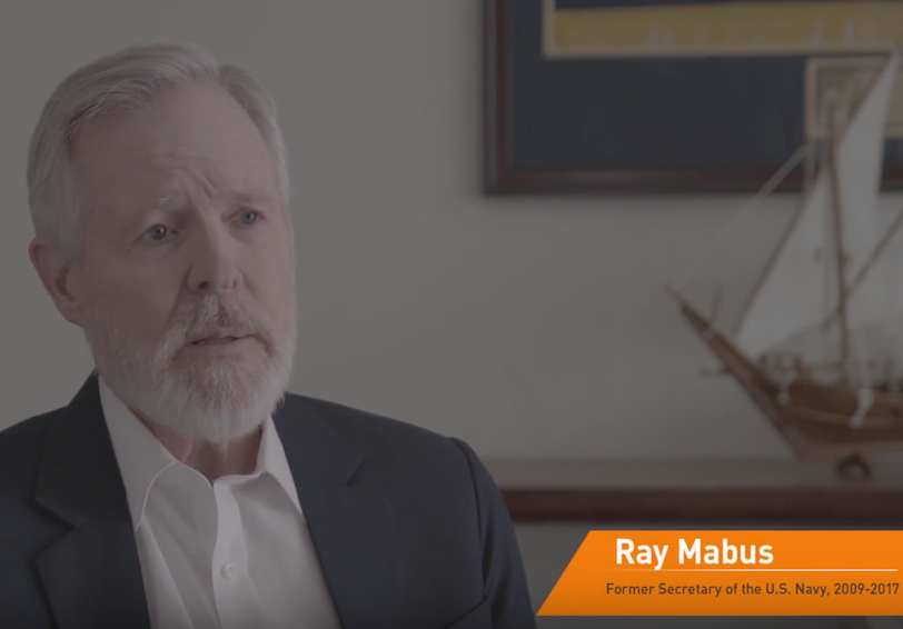 Still from video showing Ray Mabus, Former Secretary of the U.S. Navy, 2009 - 2017