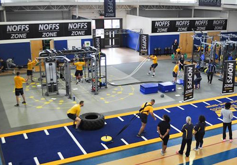 NOFFS Zone in Navy gym (US Navy photo)