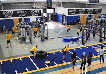 NOFFS Zone in Navy gym  US Navy photo
