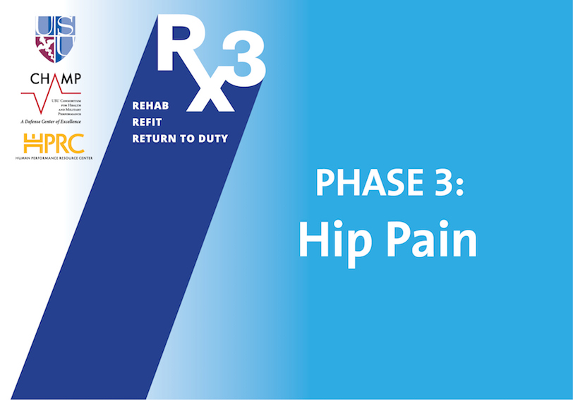 USU/CHAMP/HPRC Rx3 Phase 3: Hip Pain