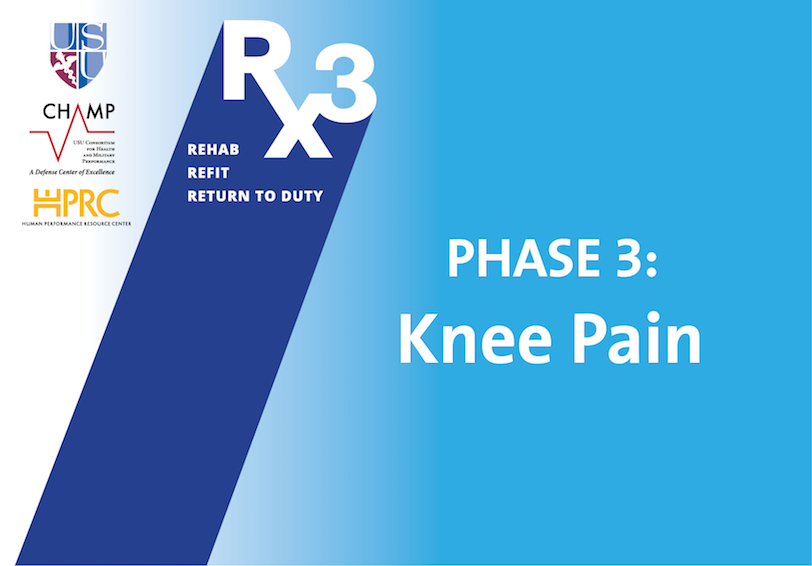 USU/CHAMP/HPRC Rx3 Phase 3: Knee Pain