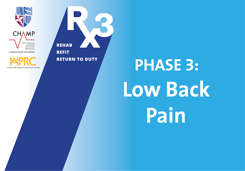 USU CHAMP HPRC Rx3 Phase 3  Low Back Pain