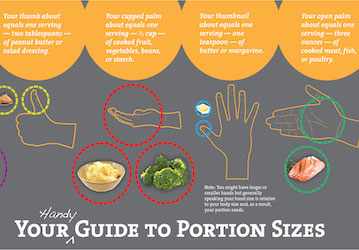 Thumbnail of Portion Sizes infographic