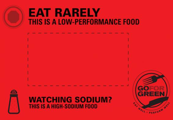 Thumbnail of Red  High Sodium Food Card
