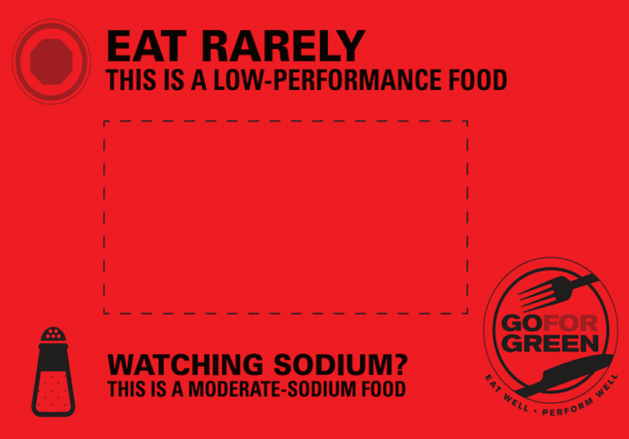 Thumbnail of Red: Moderate Sodium Food Card