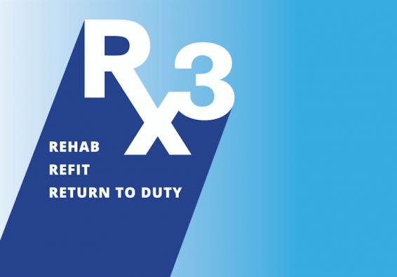 RX3 Logo  Rehab  Refit  Return to Duty