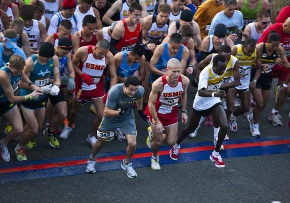 Start of the 35th Annual Marine Corps Marathon. U.S. Marine Corps photo.