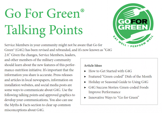 Thumbnail of first page of Talking Points for G4G document