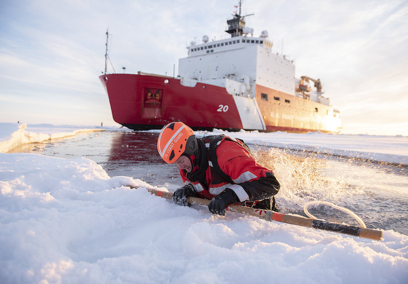 Ice rescue training.  (NyxoLyno Cangemi/U.S. Coast Guard)