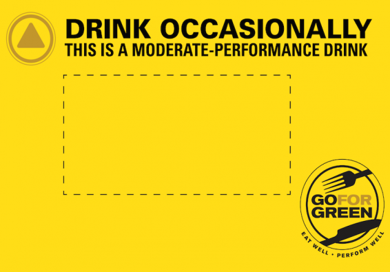 Thumbnail of Yellow Beverage Card