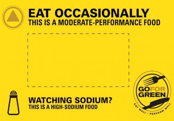 Thumbnail of Yellow  High Sodium Food Card