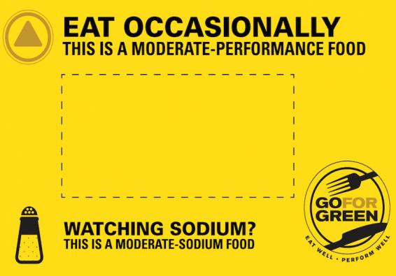 Thumbnail of Yellow  Moderate Sodium Food Card
